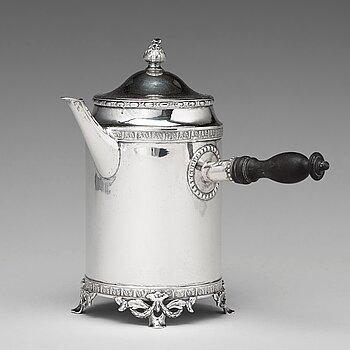 A Swedish 18th century silver coffee-pot, mark of Stephan Halling, Orebro 1784.