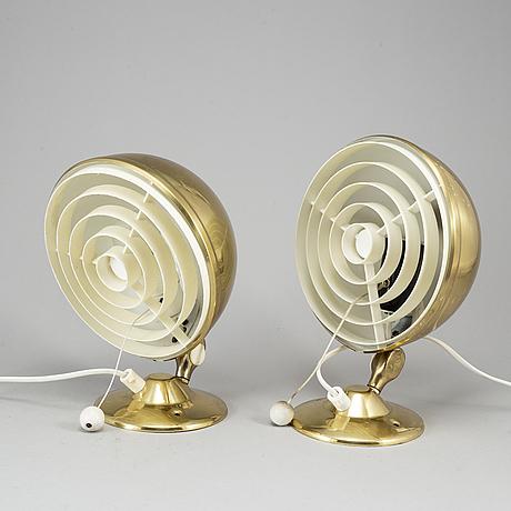 A pair of wall lights, knud christensen agentur, randers, elit, second half of the 20th century.