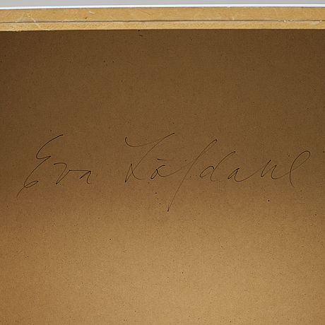 Eva lÖfdahl, wall object. signed on verso.
