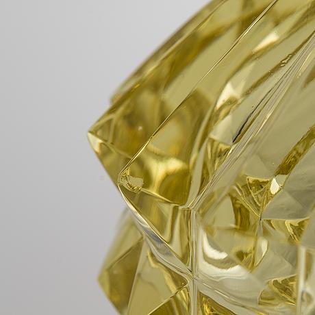 Nanny still, a 'diamond' glass sculpture, signed nanny still riihimäen lasi oy.
