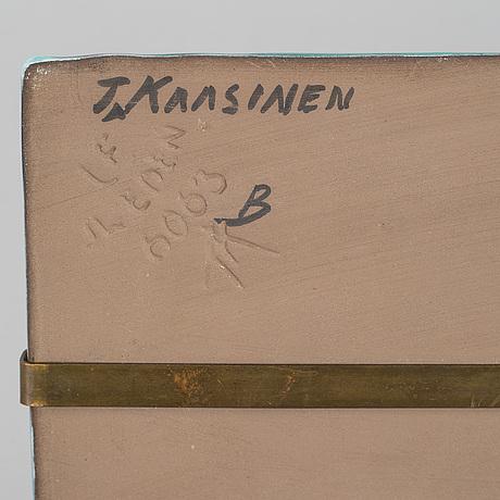 Taisto kaasinen, an earthenware wall plaque from upsala ekeby.
