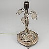 A silver plated table lamp from cf carlman, 1897.