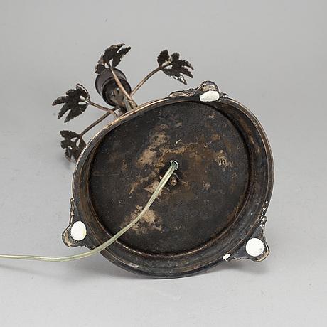Bordslampa, nysilver, cf carlman, 1897.