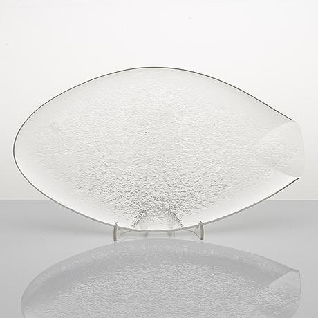 """Tapio wirkkala, skulptur, """"fisk"""", signerad tapio wirkkala, iittala -56."""