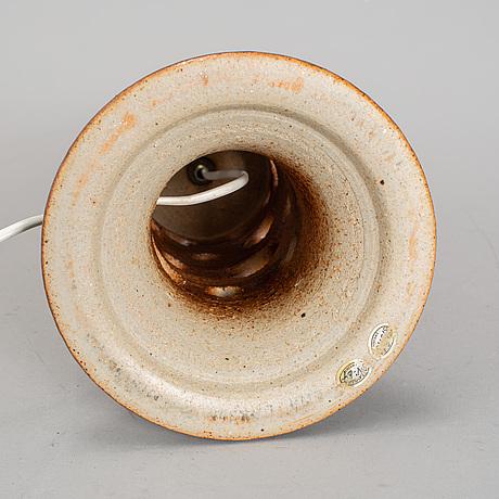 Lisa larson, a stoneware 1970's table lamp.