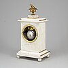 An empire table clock, early 19th century.