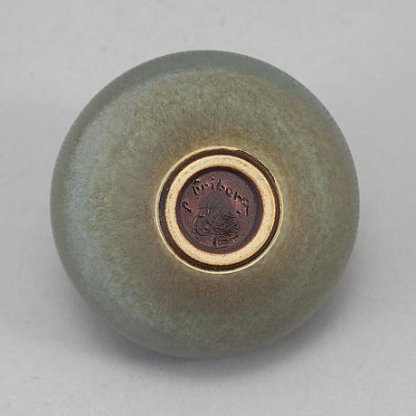 Berndt friberg, a stoneware vase from gustavsberg studio, signed friberg.