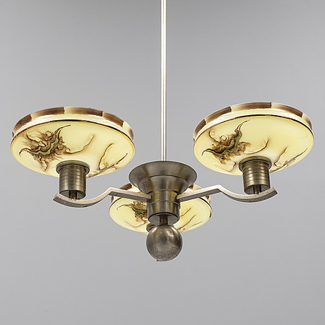 A 1920's ceiling lamp.
