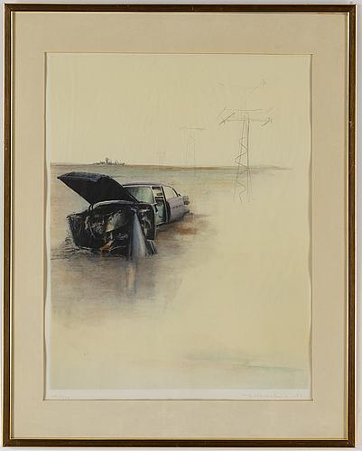 Ulf wahlberg, färglitografi, 1979, signerad 145/250.