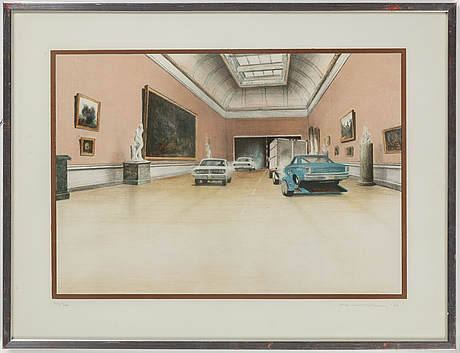 Ulf wahlberg, lithograph in colours, 1981, signed 346/360.