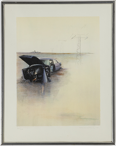 Ulf wahlberg, lithograph in colours, 1979, signed 232/250.