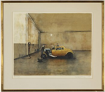 ULF WAHLBERG, lithograph in colours, 1975, signed provtryck.