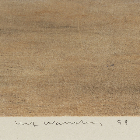 Ulf wahlberg, litograph in colours, 1999, signed 154/230.