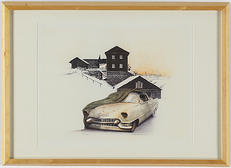Ulf wahlberg, lithograph in colours, 1999, signed 67/240.