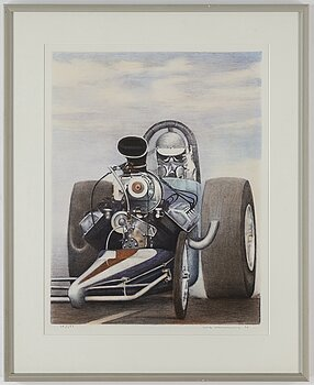ULF WAHLBERG, lithograph in colours, 1996, signed 78/290.