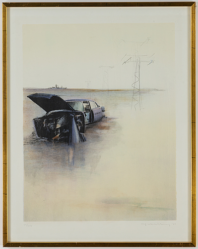 Ulf wahlberg, lithograph in colours, 1979, signed 79/250.