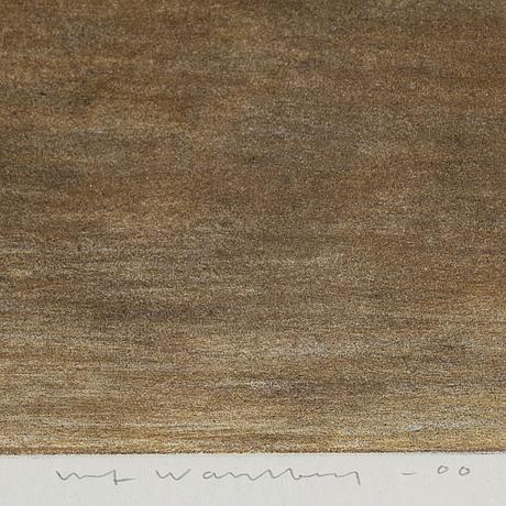 Ulf wahlberg, färglitografi, 2000, signerad 74/280.