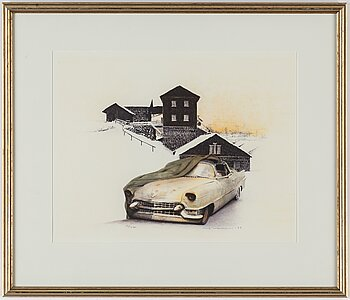 ULF WAHLBERG, lithograph in colours, 1999, signed 19/240.