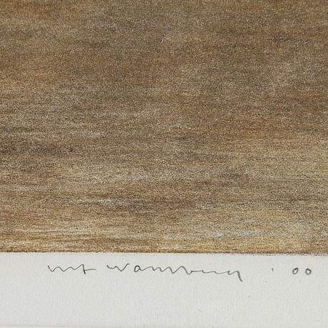 Ulf wahlberg, färglitografi, 2000, signerad 256/280.