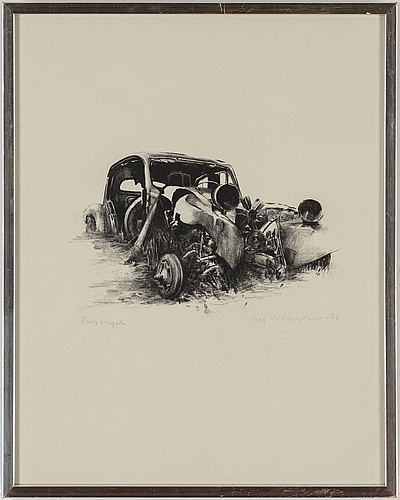 Ulf wahlberg, lithographs, 2, 1976, 2001, signed provtryck, 51/295.