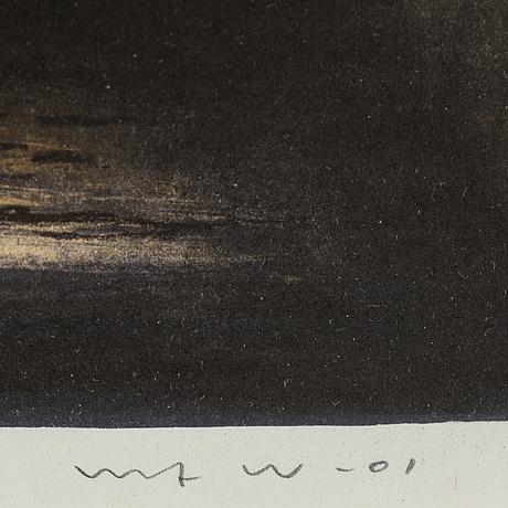 Ulf wahlberg, litografier, 2 st, 1976, 2001, signerade provtryck, 51/295.
