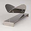 Kari huhtamo, sculpture, steel, signed and dated 1992, numbered 6/10.