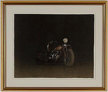 JOHN-E FRANZÉN, lithograph in colours, 1997, signed 97/250.