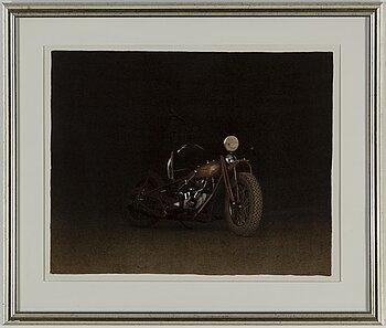 JOHN-E FRANZÉN, lithograph in colours, 1997, signed 104/250.