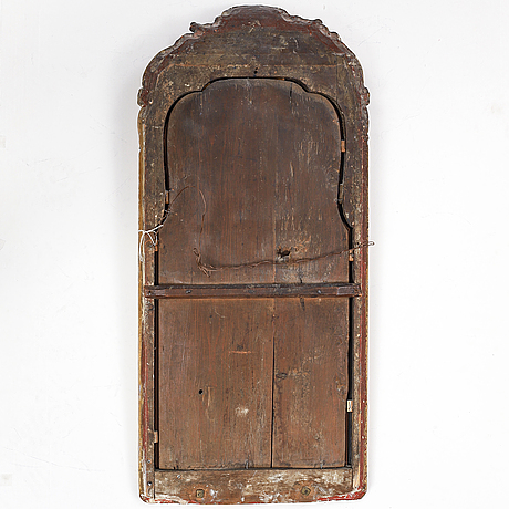 A swedish rococo mirror, second half of the 18th century.