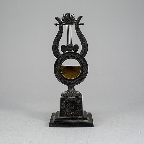 A cast iron pocket watch stand, probably berlin, ca 1820-30s.