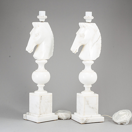 A pair of table lamps, according to the consigner pruchased at nk inredning.