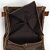 A 1970's monogram canvas garment cover suitcase.