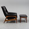 Folke ohlsson, a 'profil' teak easy chair and ottoman from dux, 1960's.
