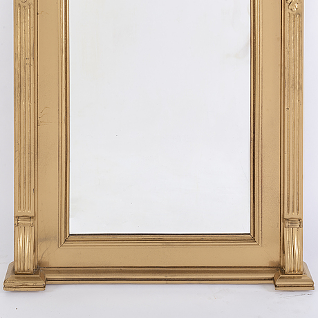 An end of the 19th century rennaisance style bronzed mirror-.