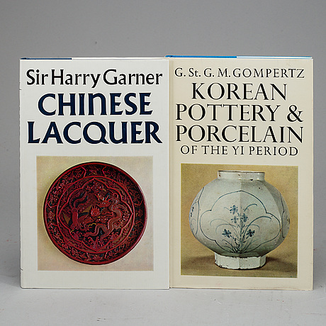 Eight books, about chinese, japanese and korean art, second half of the 20th century.