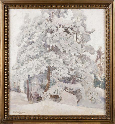 Pekka halonen, pines in winter.
