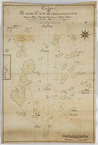 Karta, över kalmars/Ölands öar 1792.