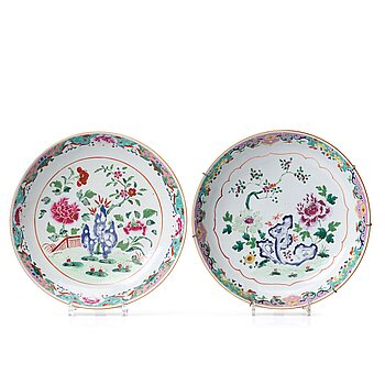 Two famille rose serving dishes, Qing dynasty, Qianlong (1736-95).
