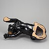 A earthenware sculpture, deruta italy, second half of the 20th century, signed and numbered 25/75.