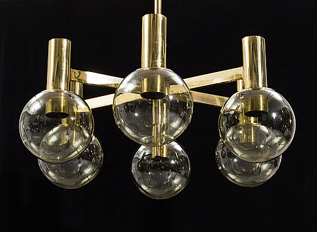 A 20th century, ceiling light.
