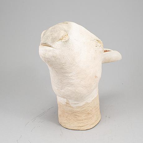 Nils gunnar zander, nils gunnar zander, skulptur, lergods, signerad och daterad 1976.