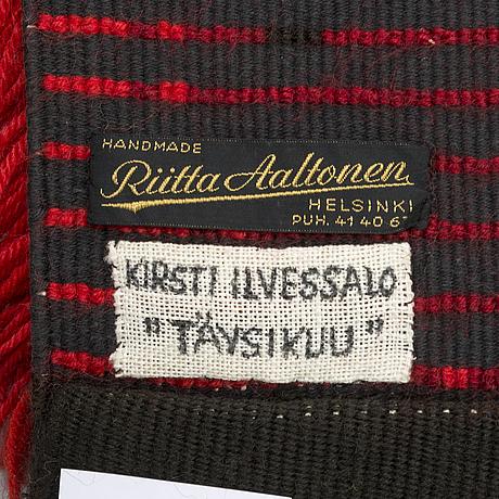 Kirsti ilvessalo, a finnish long pile rug. circa 130x90 cm.