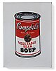 "Richard h. pettibone, ""andy warhol campbell´s soup can - vegetable soup""."