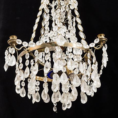 A mid 20th century gustavian style chandelier.