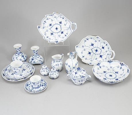 "A royal copenhagen ""musselmaalet"" coffee service, denmark, 20th century. (38 pieces)."
