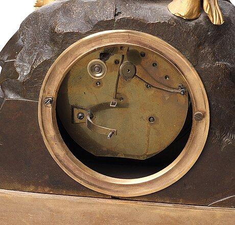 A late gustavian mantle clock by ephraim hedström, stockholm 1808-1818.