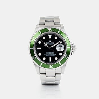 "2081. ROLEX, Submariner, ""Kermit"", ""Flat Four, Mark I""."