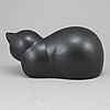 A lisa larson stoneware figurine of moses, k-studion, gustavsberg, signed.