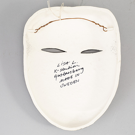 A lisa larson stoneware figure of a mask, k-studion, gustavsberg.