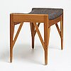 Carl-axel acking, a swedish modern stool, probably executed by cabinetmaker torsten schollin, sweden 1940-50's.